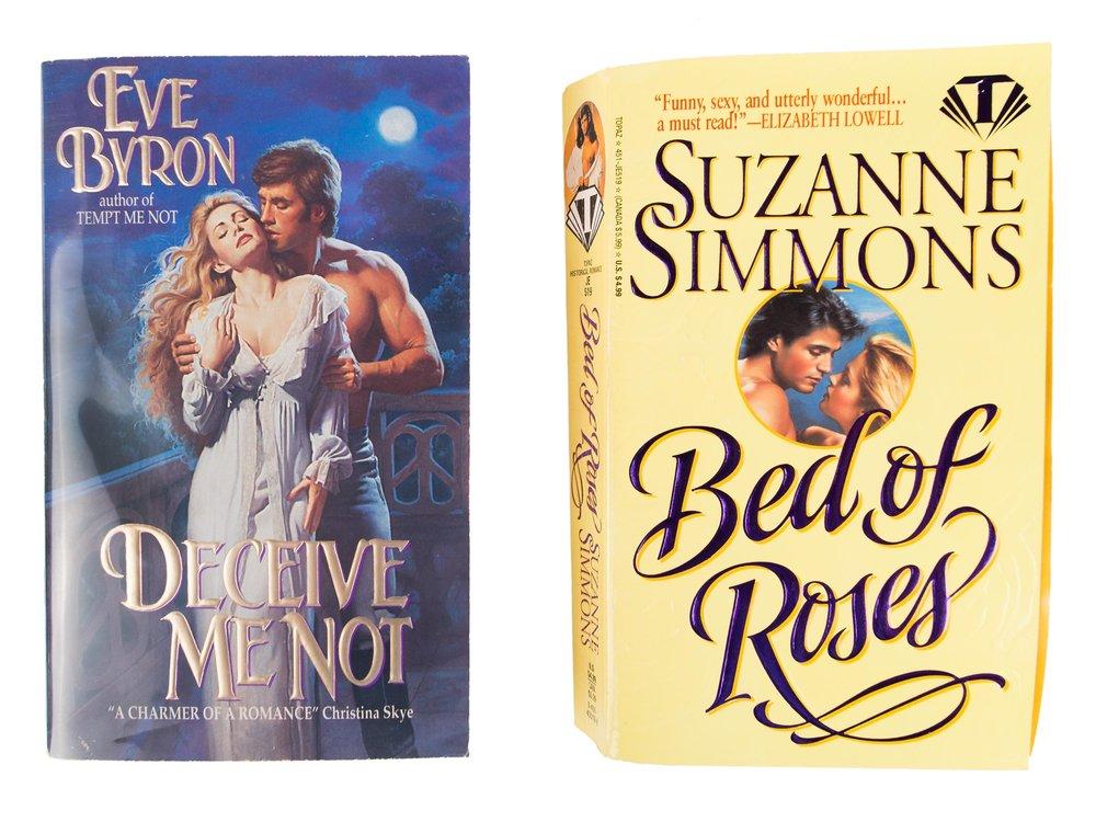 Romance novels, ca. 1990s