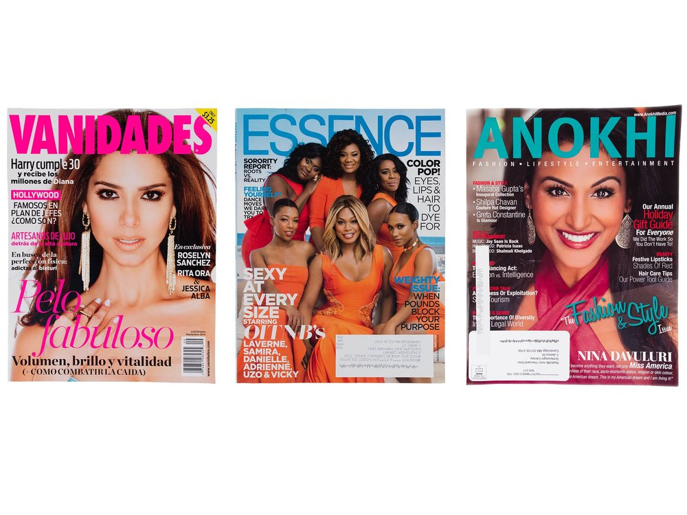 Fashion and lifestyle magazines, ca. 2014–2015