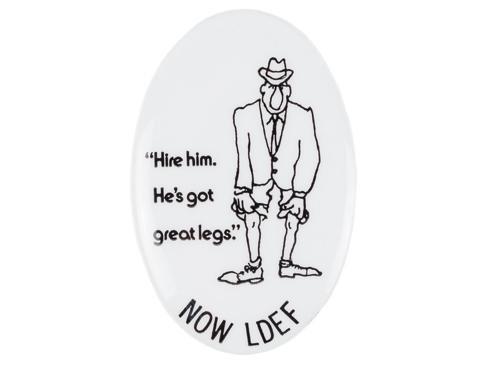NOW Legal Defense & Education Fund button, ca. 1973