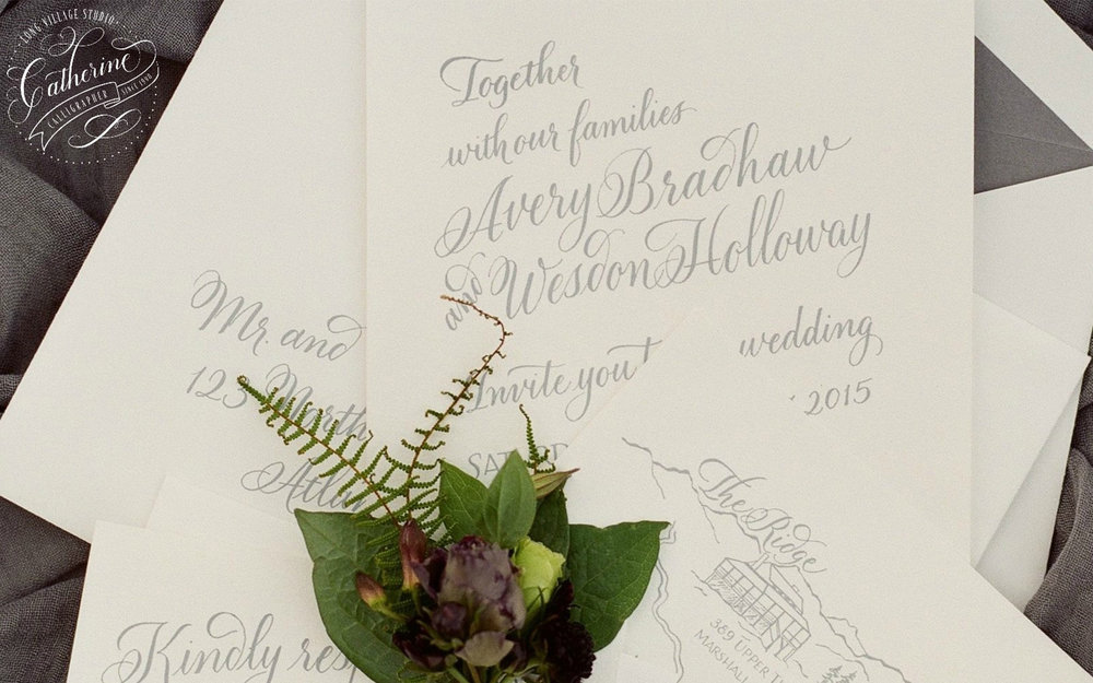 LONG VILLAGE STUDIO  Long Village Studio offering full, professional calligraphy since 1990. The perfect solution for beautiful calligraphy elements and signage for your Asheville wedding.    Leave a Review