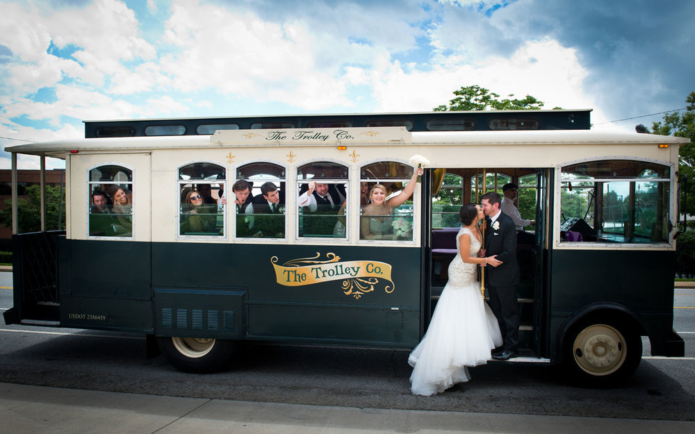 "THE TROLLEY COMPANY  The definition of trolley is ""FUN."" The Trolley Company offers courteous and dependable service that is fun and friendly. The perfect solution for wedding transportation, bachelorette and bachelor party transportation.    More Information      Leave a Review"