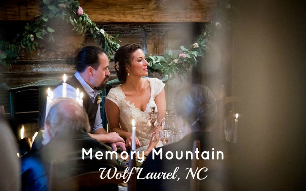 MEMORY MOUNTAIN  Nestled in the Blue Ridge Mountains of Asheville. Memory Mountain's creekside chapel or lakeside dock is the perfect place for your intimate ceremony. Cabins will sleep 70.     Leave a Review