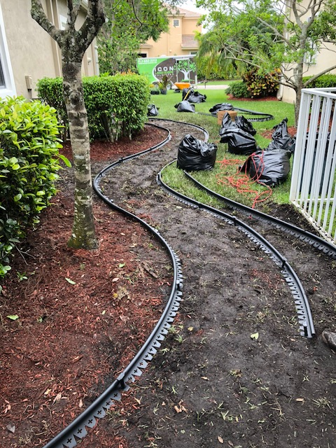Hardscaping - With extreme attention to detail, we'll design and install the pathway, retaining walls and additional features that will make your South Florida landscape pop. This will ultimately improve the look of your home while at many times, providing a solution to a problematic area of the yard.