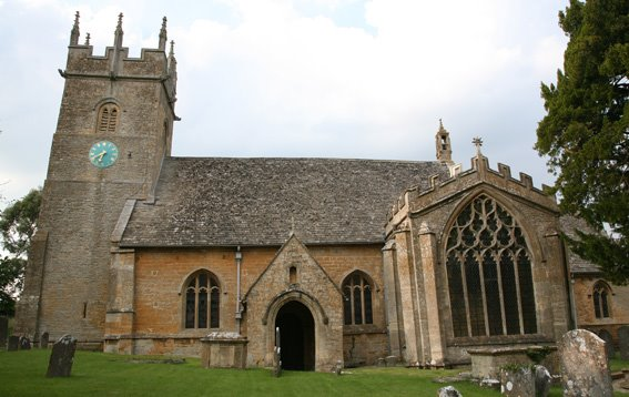 Longborough - With regular services on the 1st and 4th Sundays, St James's stands right at the heart of the community, beautifully and lovingly kept. For more details click on this link.The church is well worth a visit outside services as well - it has a fascinating history!