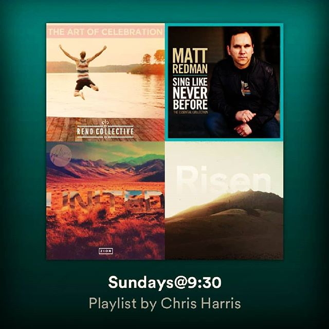 Follow our Sundays@9:30 Spotify playlist.