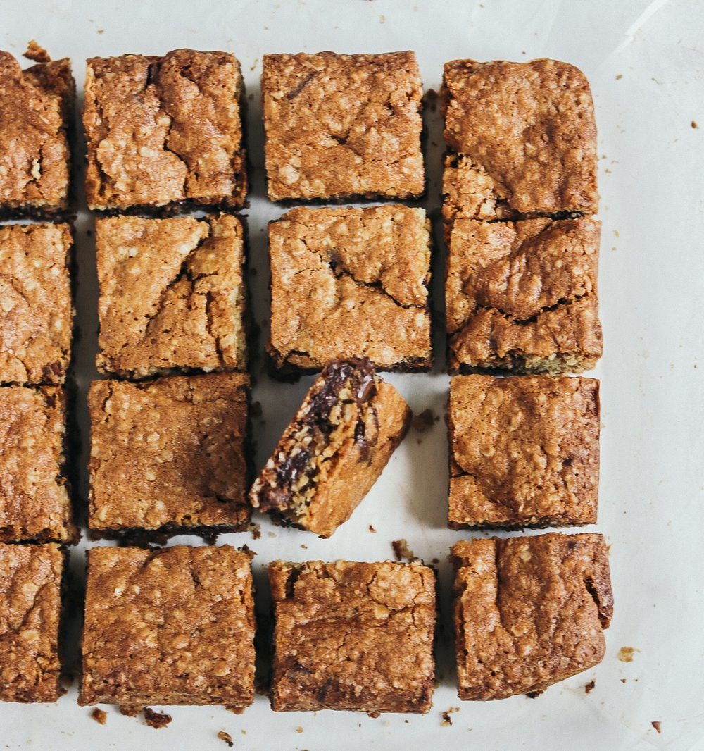 Chocolate Oatmeal Blondie