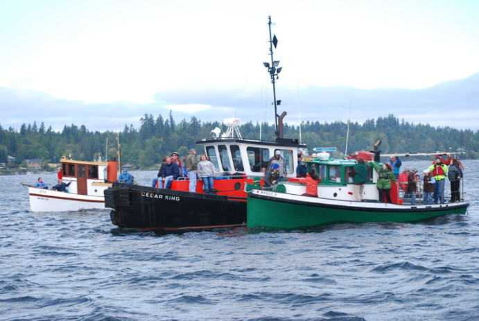 Atka with tug Cedar King when the race stopped to help tug Maggie B in distress (OHD Stock Photo)