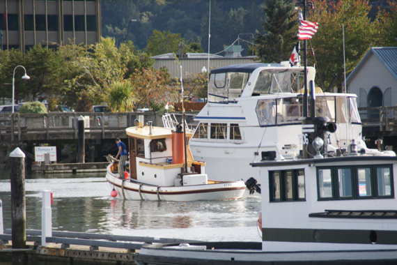 Stern View of Atka at Percival Landing, Olympia (OHD Stock Photo)