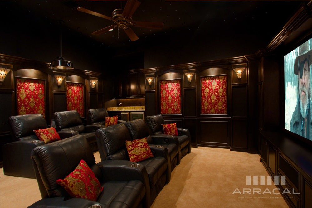 - Today's home theaters can look and sound much better than commercial movie theaters. A properly designed system can become the family's favorite entertainment room for years to come. But selecting and designing the right system can be daunting. From choosing the video display, to the right kind of speakers, and not to mention deciding which wires to select, the list of decisions goes on and on. With the help of a professional, you can design the ultimate home theater.