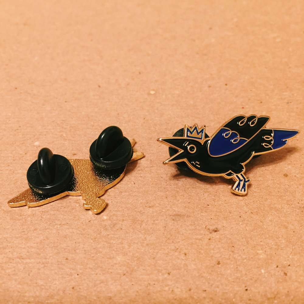 King Crow, Soft Enamel Pin, 2018