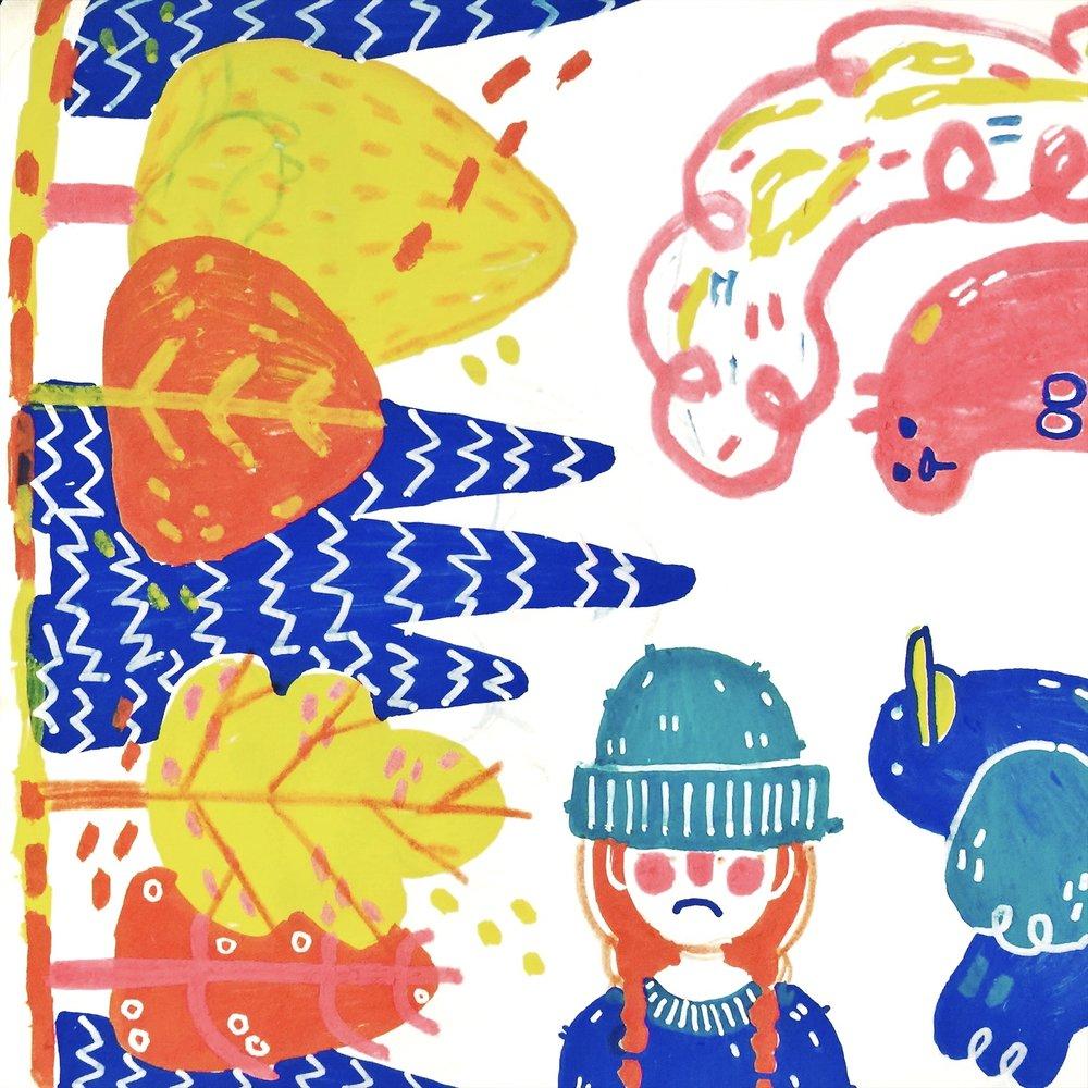 Posca Marker Illustration, 2018