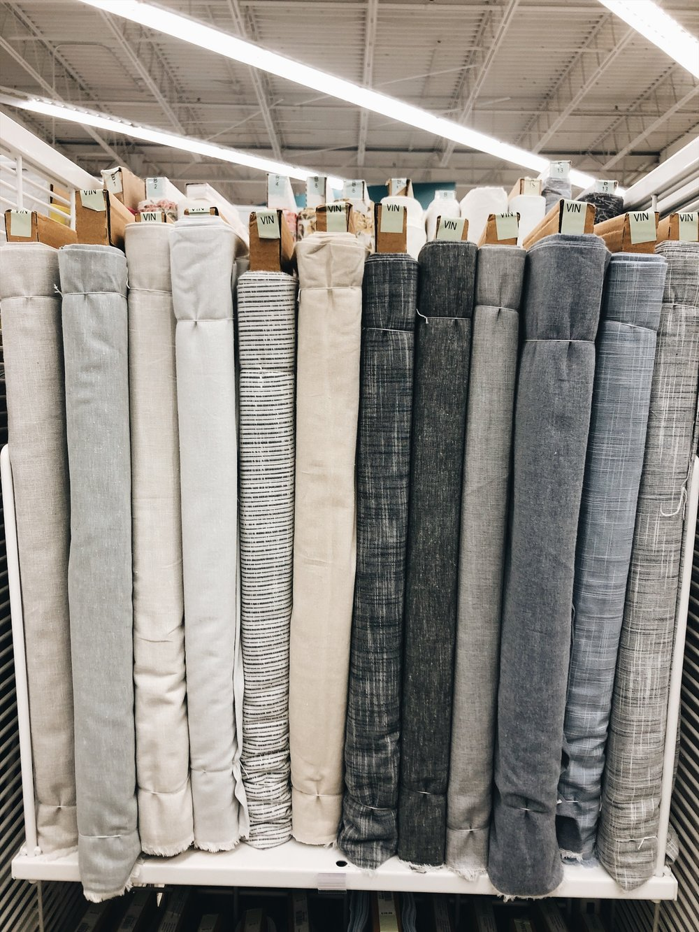 Fabric: A linen cotton blend to be exact & the DIY project I have planned.