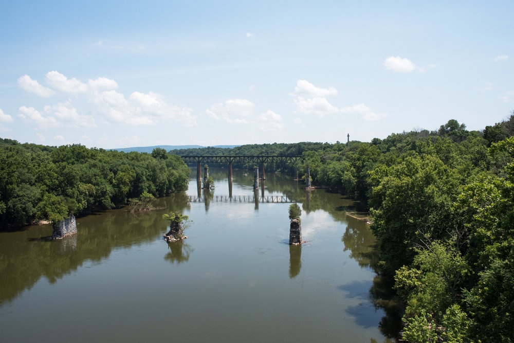 View of the Potomac River from Shepherdstown, West Virginia.