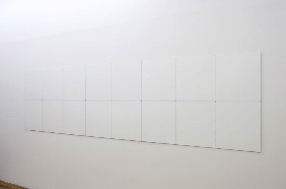 "Untitled, 2017   39.25 x 144.5""   99.7 x 367cm"