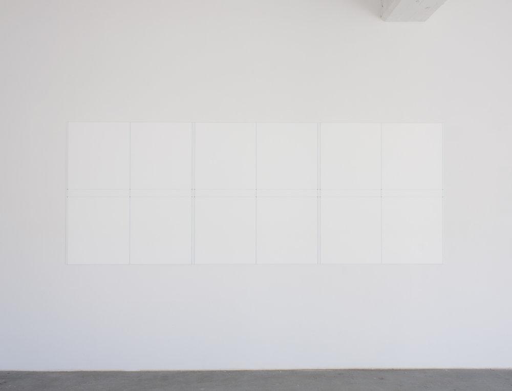 """Berlin triptych #1, 2017   47.25 x 126.5""""   120 x 321.3cm"""