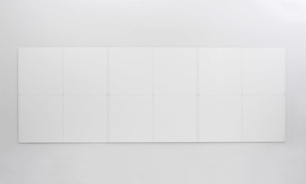 """Triptych, 2017  34 x 96.12""""   86.4 x 244cm"""