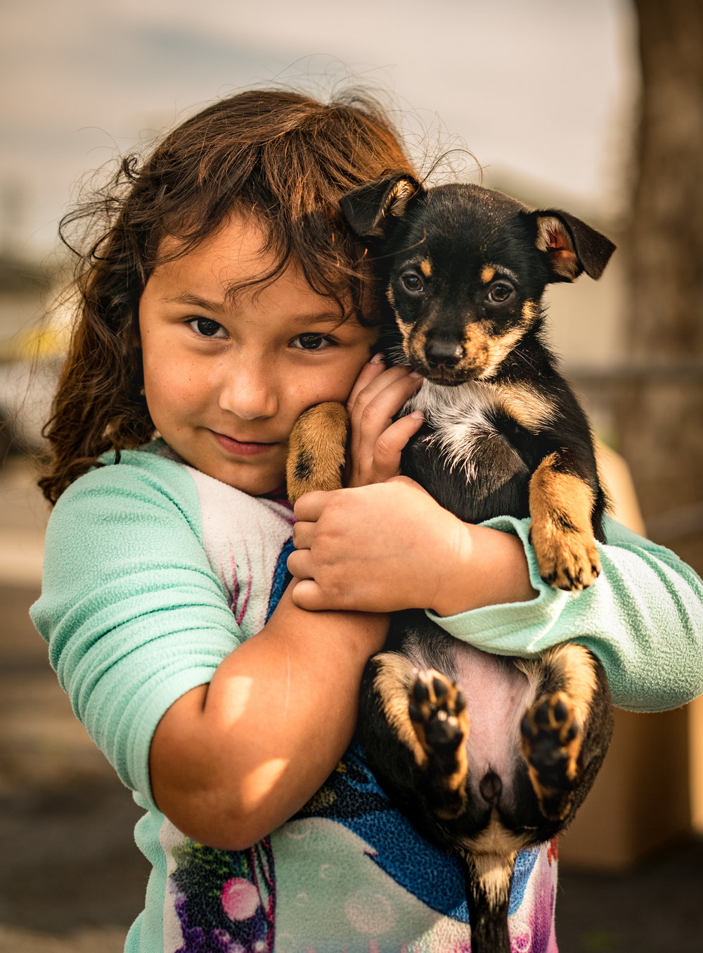 A young client and patient at the February, 2018 Neighborhood Dog Days Clinic, Del Paso Heights Branch, Sacramento Public Library.