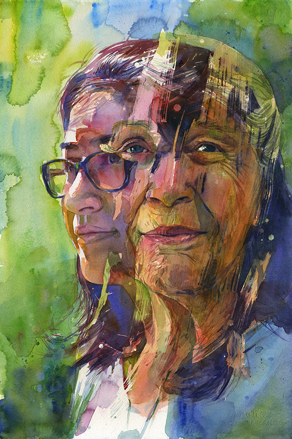 """Generations"" is a portrait of a grandmother and granddaughter."