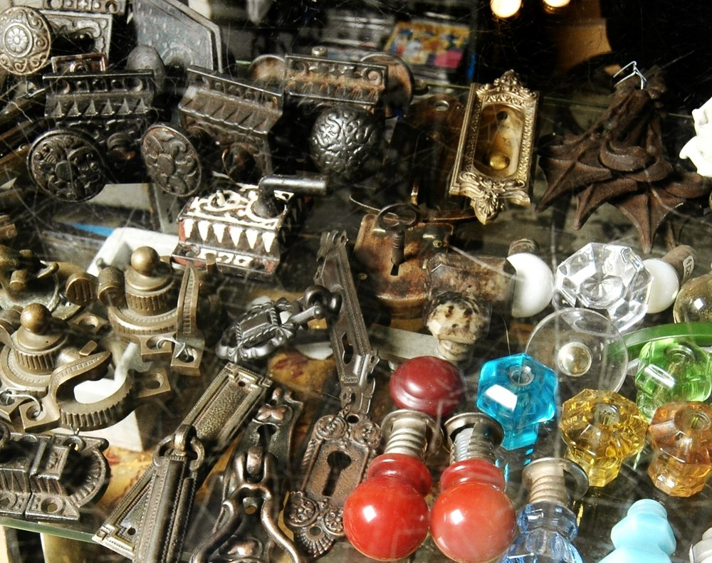 More Hardware - And more and more and more... Lots of fun and funky items. Drawer pulls & knobs, latches, furniture & cabinet hinges, and odd bits.