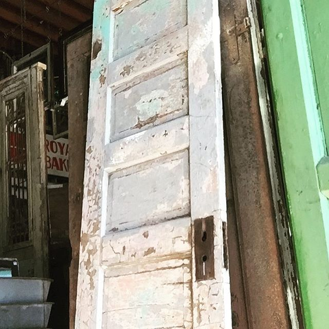 This door has more chips than Frito Lays. This door has more chips than an NHL players teeth. This door has more chips than California Highway Patrol. #thisdoorhasmorechips #chips #chp #salvage #doors #doorsofinstagram #architecturalsalvagesd #5panel