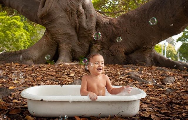 We love these pictures from @flmvphoto!  We have the baby bath tubs in stock but you must provide your own little cutie. #babies #babiesofinstagram #architecturalsalvagesd #balboapark #bath #sandiego #littlecutie
