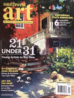 Check it out! -  September, 2018 issue of Southwest Art Magazine includes