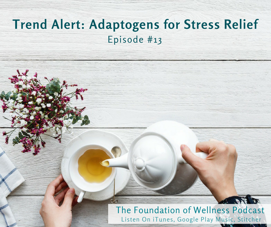 """#13: Trend Alert: Adaptogens for Stress Relief (Medicinal Mushrooms and More) : Adaptogens are a specific group of herbs and mushrooms that have been used for thousands of years in Chinese and Ayurvedic medicine. They've gained a lot of buzz recently for their ability to help our bodies better cope with stress and fatigue. Adaptogens make us more resilient in every situation. They work by strengthening the adrenal system and moderating stress responses. Adaptogens got their name because once they enter the body they """"adapt"""" to the individual's specific needs either by energizing or calming the body. -"""