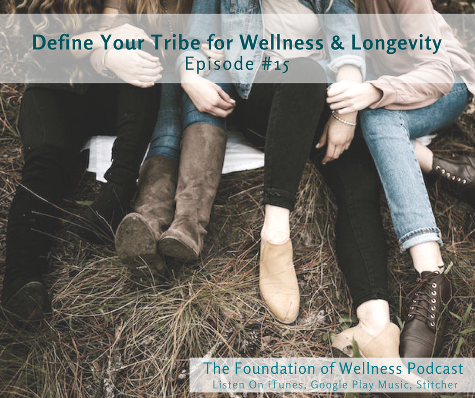 """#15 Define Your Tribe for Increased Wellness & Longevity: In order to succeed at your wellness goals, it's important that you have the right support system and positive relationships in your life. In this episode Marisa shares some relatable experiences like when you're excited about a new hobby only to find that a loved one couldn't """"care less"""". Marisa introduces the idea that strong social connections increase longevity, and she helps you create your own Tribe Guide! -"""