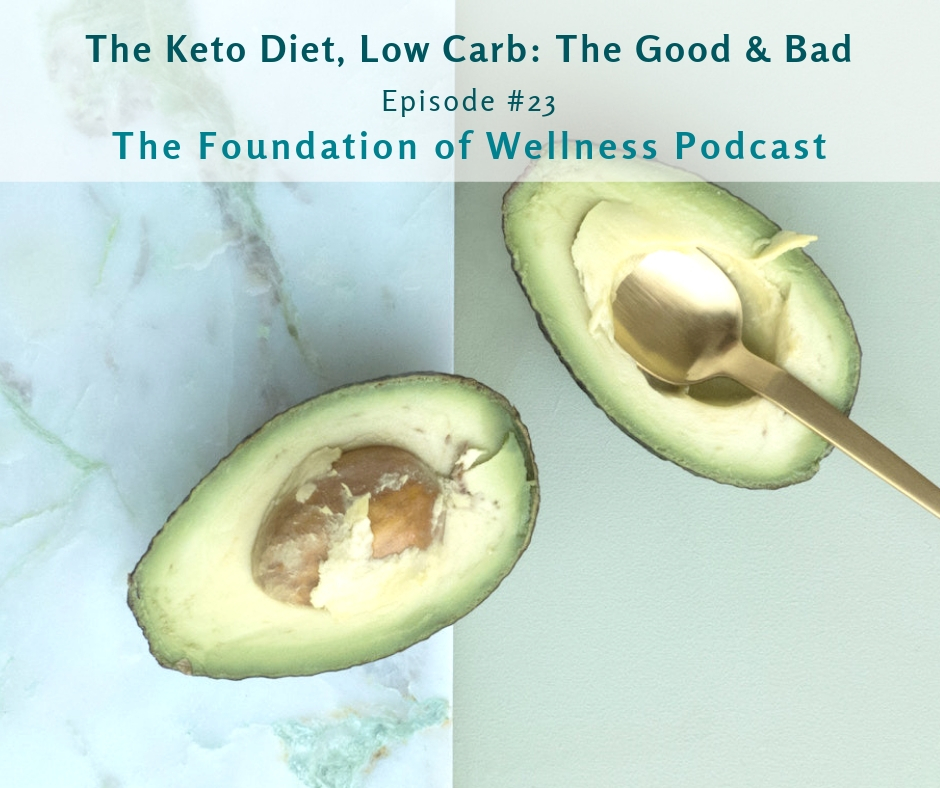 #23: The Keto Diet & Low Carb, The Good and Bad: This episode is all about the ketogenic diet. Here we discuss the good, the bad and if it's right for you. You'll learn what a ketogenic diet actually looks like, types of keto diets, and signs you're probably in ketosis. You'll also learn the pros like weight loss and enhanced mental clarity and the cons like risk of kidney stones and worsened hypothyroidism. -