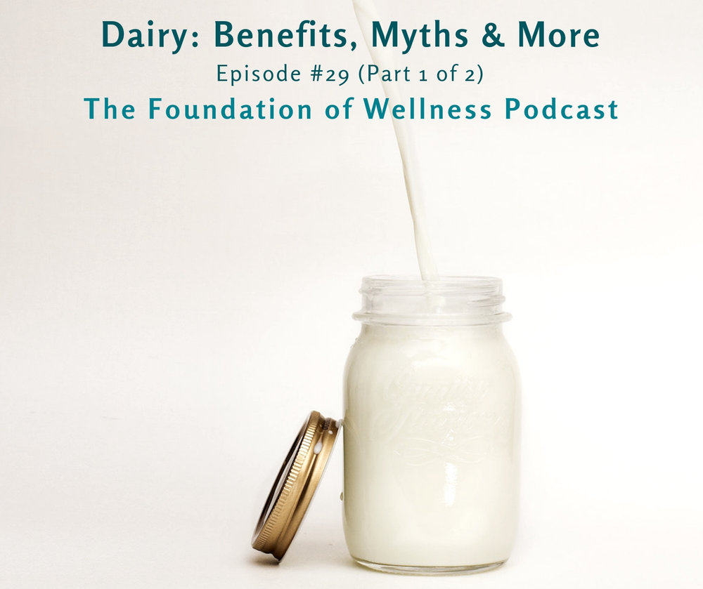 #29: All About Dairy: Benefits, Myths, Quality & More (Part 1 of 2) - This episode is episode 29 and it's all about dairy. Here we share some of our own experiences with dairy, what the research says, what we teach our coaching clients, and which dairy myths you should know about. Be sure to check out part 2 of this episode to learn more about dairy intolerances, allergies, and all the ways to help with that.