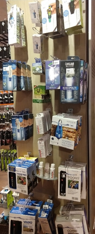 photo of water treatment options store display