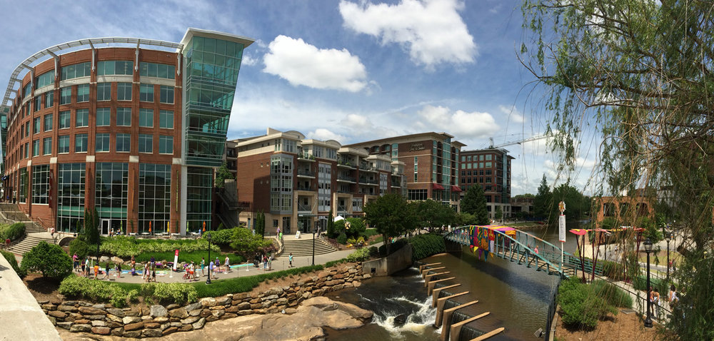 Each of the critical success factors in Greenville's downtown development initiative coalesced with the RiverPlace project, which now stands as the city's most iconic vista along the river.
