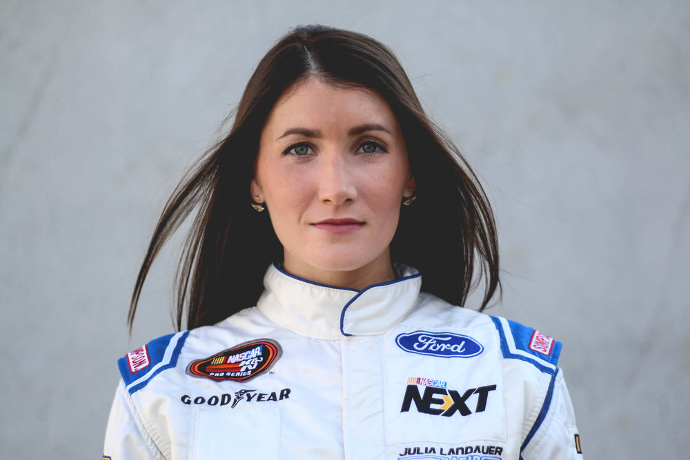 IN THE DRIVER'S SEAT - NASCAR CHAMPION JULIA LANDAUER