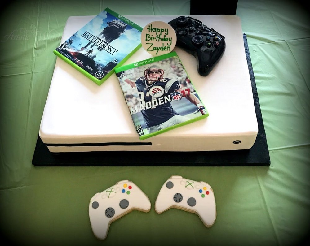 X Box Birthday Cake Edible Games