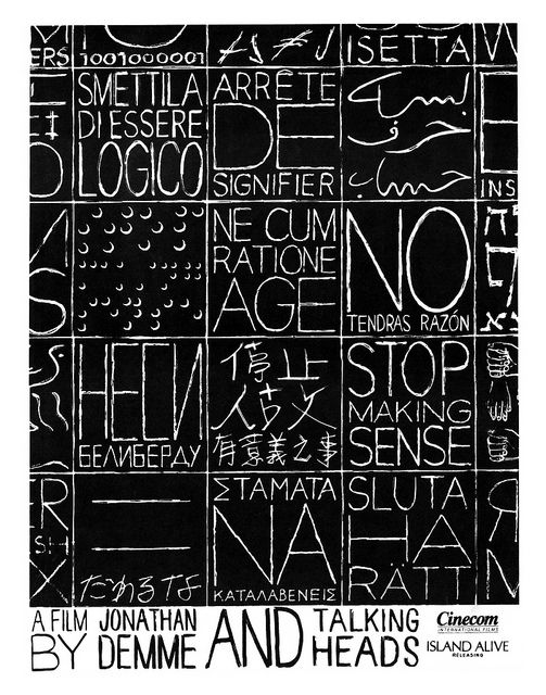 Ferro collaborated with Jonathan Demme on  Stop Making Sense  (1984).