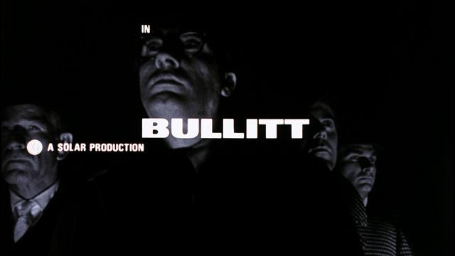 Ferro designed the iconic title sequence for  Bullitt  (1968).