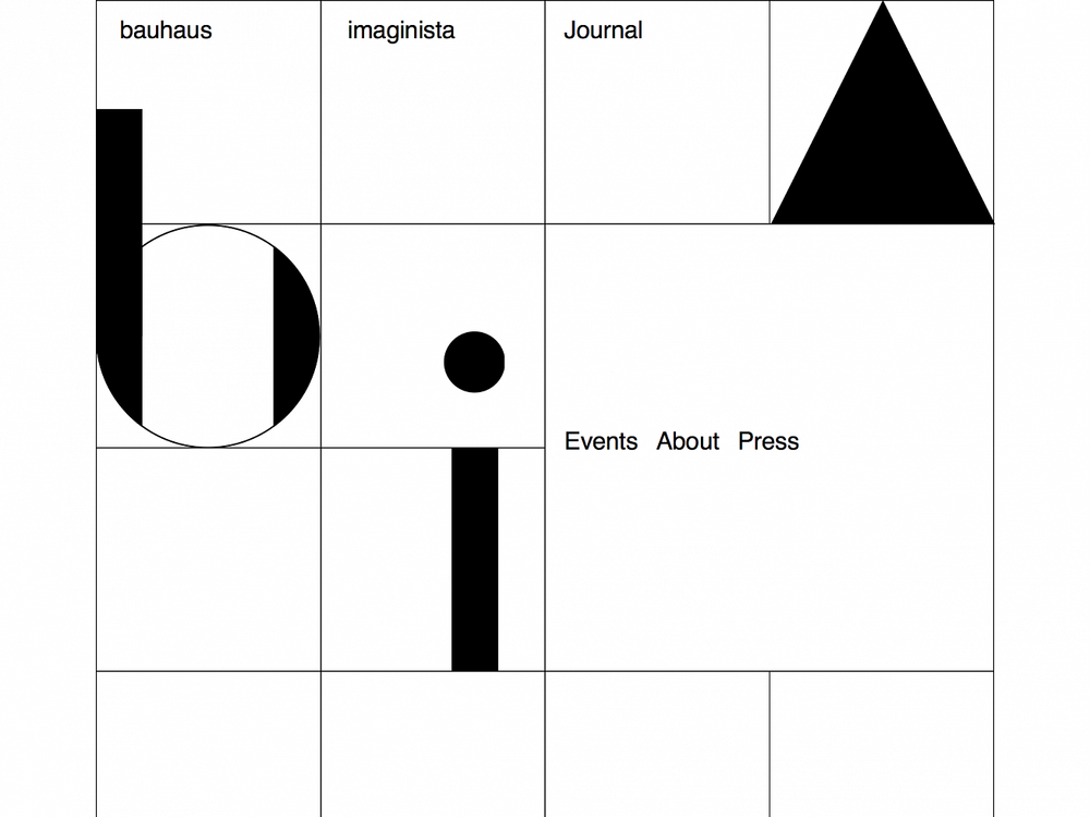 Bauhaus Imaginista  Website for an online scientific publishing platform.