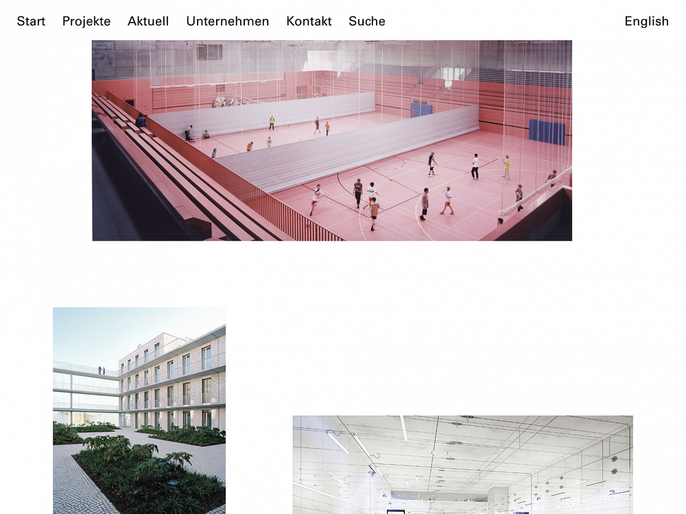 Allmann Sattler Wappner  Website for an architecture firm based in Munich.