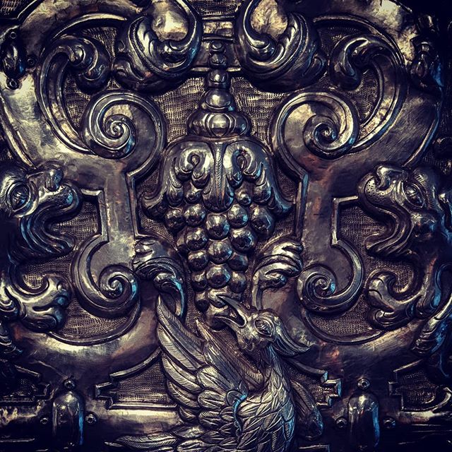 18th C. Spanish Colonial Silver frame Loving the hand engraved details. #silver #baroque