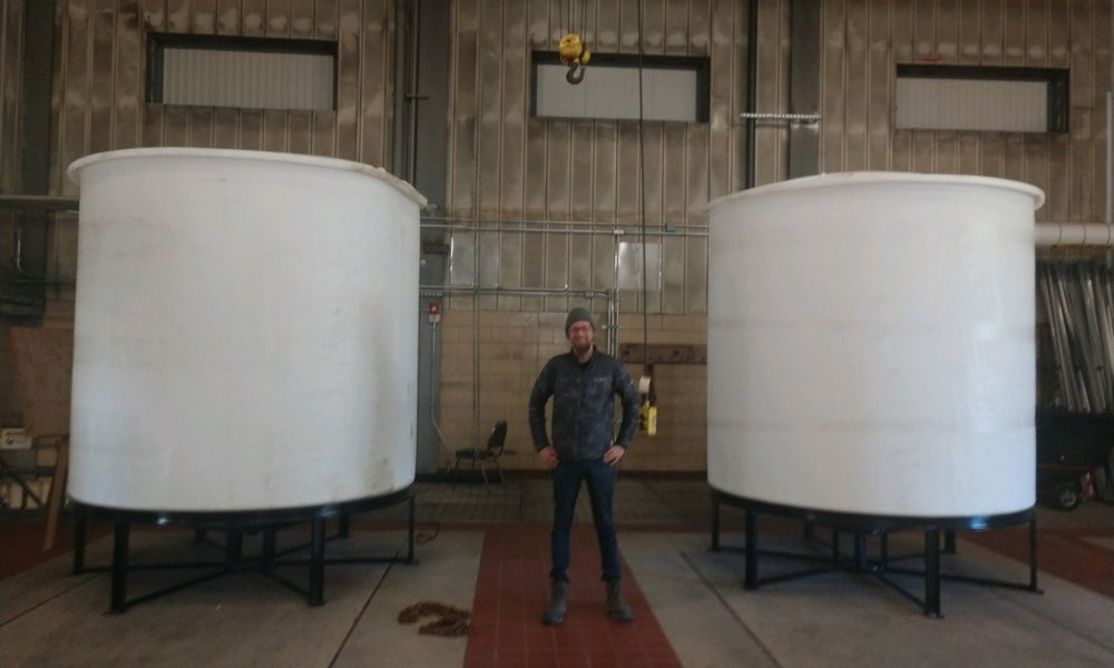 Our new pilot tanks arrived! - Each tank is 2500 Gals.