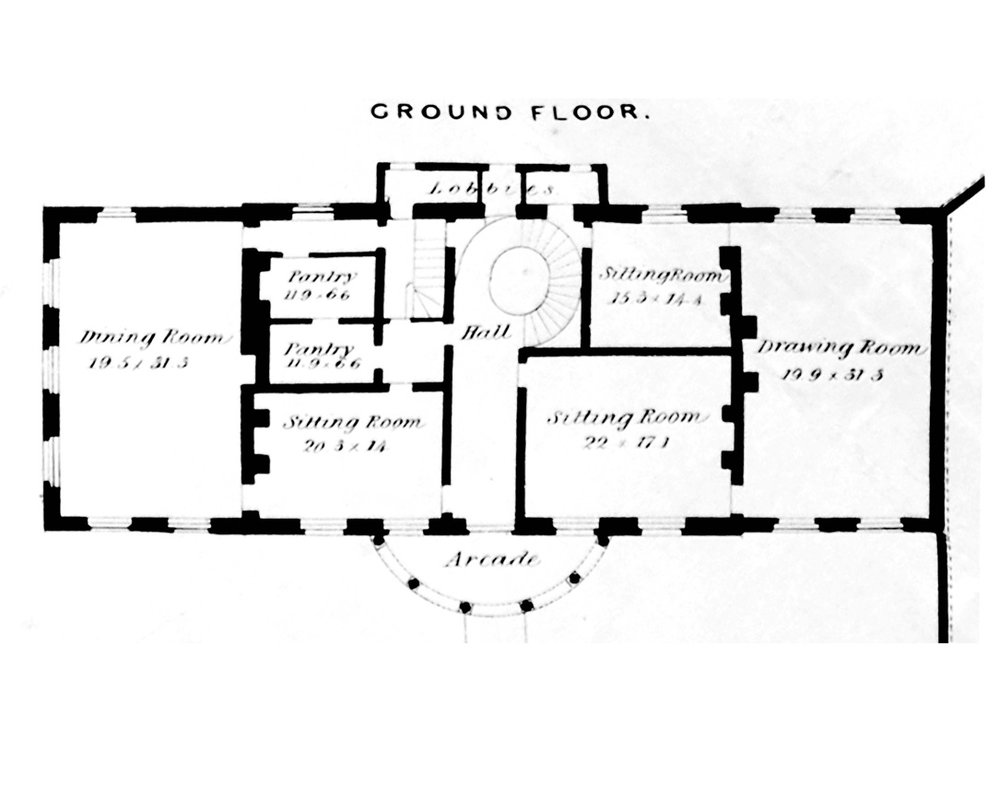 Original 1792 Ground Floor Plan
