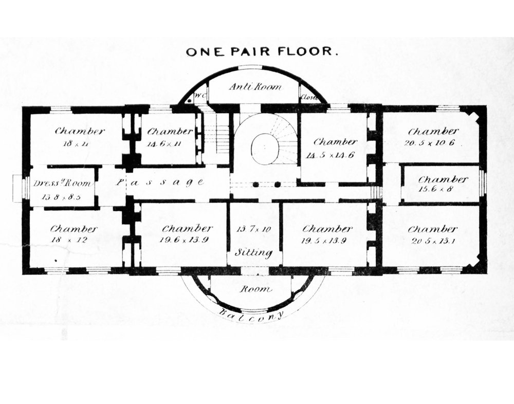 Original 1792 First Floor Plan