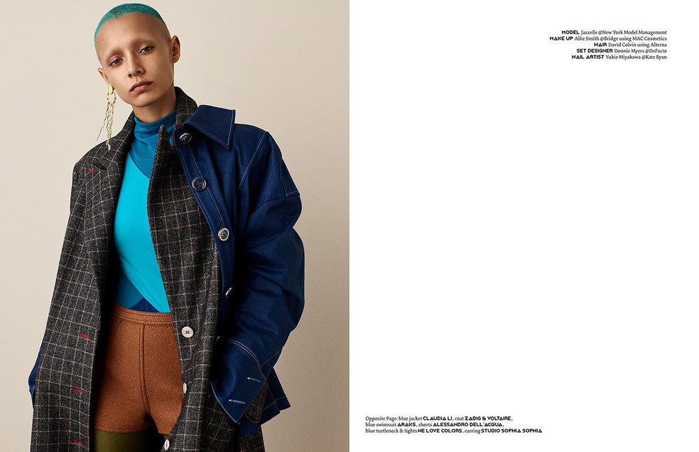 PIBE #Issue 4  Photography / Jason Kim @Art Department Styling / Rachel Gilman Make up / Allie Smith @Bridge using MAC Cosmetics Hair / David Colvin using Alterna Model / Jazzelle Zanaughtti @New York Model Management Set Designer / Donnie Myers @DeFacto Nail Artist / Yukie Miyakawa @Kate Ryan
