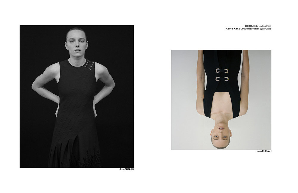 PIBE #Issue 3  Photography & Styling / Pablo Ravazzani Make up & Hair / Ronnie Peterson @Judy Casey Model / Erika Linder @Next