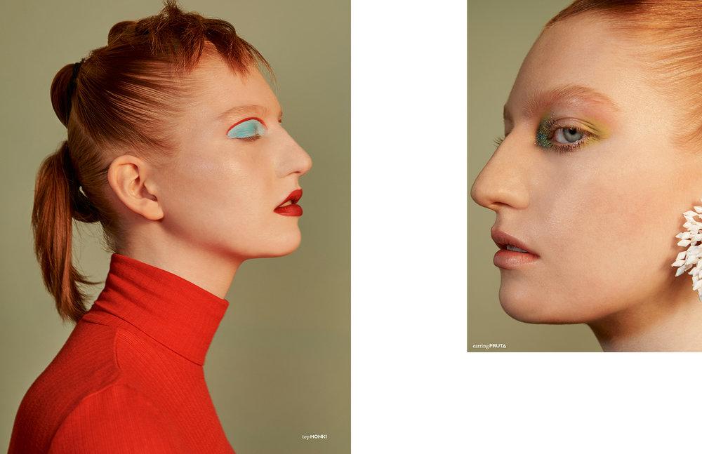 Photography / Elliott Wilcox Styling / Yeon You Make up / Marie Bruce using Mac Cosmetics Hair / Akiko Kawasaki using Bumble and Bumble Model / Ella Kitson @Linden Staub