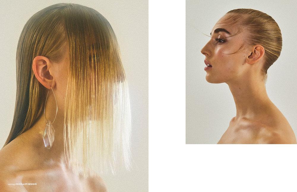Photography / Nathan Jenkins Styling / Tasha Arguile Hair / Ryuta Saiga using Bumble and Bumble Make up / Riona O'Sullivan using Glossier Models / Ava Hilmars @Premier, Josie Lane @IMG