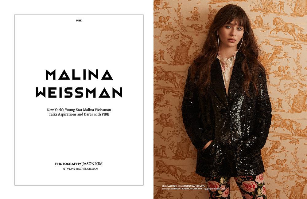 PIBE Magazine Malina Weissman.jpg