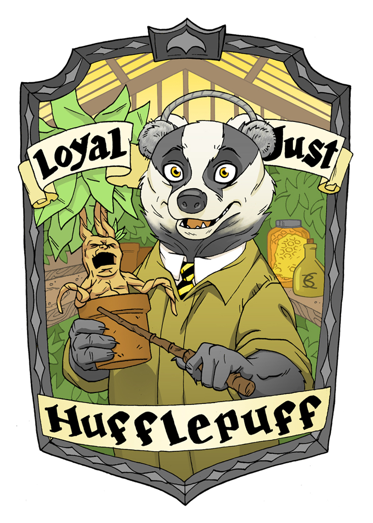 Hufflepuff Badger for the Muggles Market