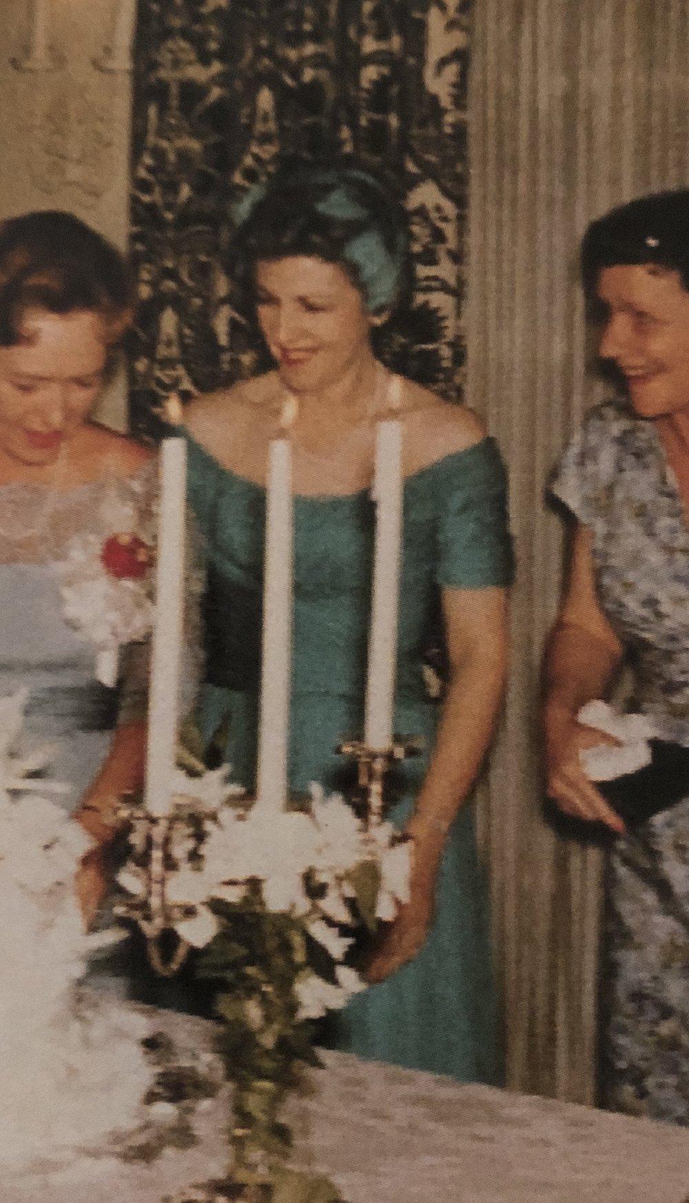 Aunt Katherine at my wedding, 1960.