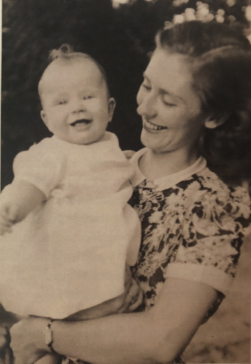 My mother and me, 1940.